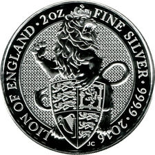 2oz Lion of England 2016 Queens Beast - 62,2g 999 Silber Silver 5 Pounds England