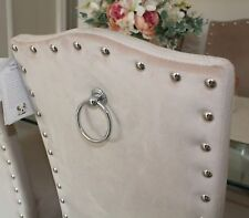 Velvet Dining Chairs | Chrome Knocker | Set 2, 4, 6 - Home Decor | Kitchen