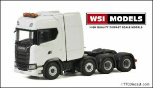 Wsi 03-2021 Scania S Highline Cs20h 8x4 White, 1/50 Scale