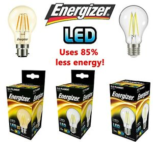 Energizer LED GLS Bulbs Filament 4.2w = 30w 6.2W = 60W 11w = 75 WATT B22 E27