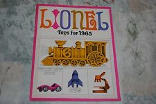 VINTAGE 1965 LIONEL TRAINS AND  SLOT CARS AND TOYS  CATALOG