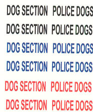12 X POLICE DOGS DECALS FOR POLICE WATERSLIDE DECAL FOR CODE 3