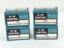 Rare Lot of 4 - H&W Control Vte Panchromatic 35mm Expired Film from 1974