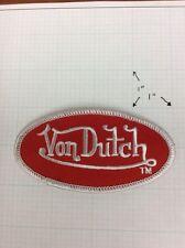 VON DUTCH OVAL PATCH NEW Red / White