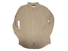 GOLITE Button-front Plaid Shirt Color: Blue/Grey/Yellow Sz: Medium