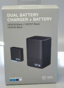 GoPro Dual Battery Charger with Battery for Black  HERO 6 |  HERO 7 |  HERO 8