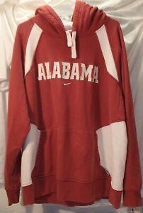 University of Alabama Crimson Tide Nike Embroidered Hoodie Sweatshirt Mens XL