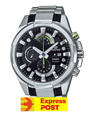 Efr-540d-1a Black Casio Edifice Men's Watch 100m Stainless Steel Band