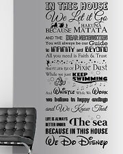 We Do Disney Style Quote In This House Rules Vinyl Wall Art Sticker Mural UK