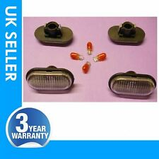 For RENAULT TRAFIC side indicator repeater lens light with bulbs white colour