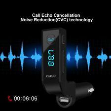 Wireless Bluetooth 3.5mm Aux Audio Adapter Music Receiver Stereo Car Mic + FM u9