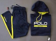 Ralph Lauren Polo Sport Tech Fleece Active TrackSuit Men Size L Blue Genuine NWT