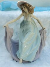 Vintage Spanish Decorative Art Lladro Statue 5662 May Dance Flowing Young Female