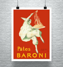 Baroni Vintage Italian Pasta Poster Poster Fine Art Print on Canvas or Paper