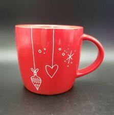 Starbucks Coffee Mug*Christmas Ornaments*Red*White*Black*Hearts*Snowflake