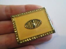 Vintage Jewelry Art Deco Enamel FRENCH BACK Clasp Pin Brooch Estate 1.5'