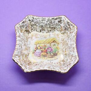 Empire England Chintz Small Pin Trinket Dish'The Flower Market 'Crinoline Lady