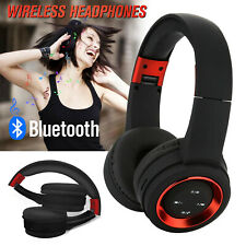 Wireless Headphones Bluetooth Headset Stereo Noise Cancelling Over Ear w/ Mic