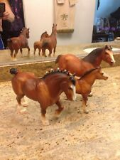 Vintage Breyer Horses Clydesdale Family