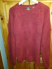 EUC Timberland Holiday Red Knit 100% Cotton Pullover Crew Sweater Sz XL UK 42