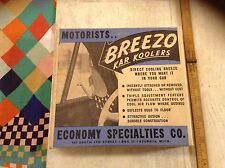 NOS vtg Breezo metal breezies 48 51 52 53 Chevy Ford Buick