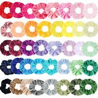 10/20pcs Pack Velvet Hair Scrunchies Elastic Scrunchy Ponytail Hair Tie Rope Sd