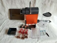 $230 Nespresso D60 Pixie 1 Cup Espresso Machine Metallic Red / Orange EXCELLENT