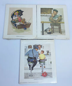 Lot of 3 New Norman Rockwell 1972 Curtis Publishing LITHOGRAPH REPRINTS 5 X 6