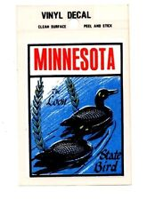 Lot of 12 Minnesota State Bird The Loon Luggage Decals Stickers - New - Free S&H