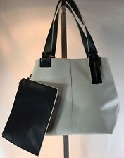 French Connection NOA Tote Handbag NWT White Black Handles MSRP $98