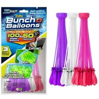 Zuru Bunch O Balloons 100 Self Sealing Water Instant Party Game Outdoor Pi/Wh/Pu