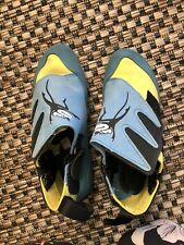 Mad Rock Mad Monkey Kids Climbing Shoes Blue Yellow Youth Size 3