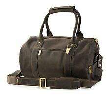 Visconti 16145 Large Brown Genuine Leather Travel Weekend Overnight Duffel Bag