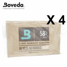 4 X Boveda 58% Rh 2-way Humidité Contrôle - Grand 67 Gram Taille