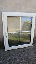 Nr.4, Kunststofffenster mit Sprossen, rechts Drehkipp, 108 cm breit/120 cm hoch