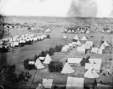 Federal Army tents on the Pamunkey River at Cumberland Landing - New 8x10 Photo