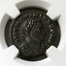 310 - 313 AD ROMAN EMPIRE BI REDUCED NUMMUS MAXIMINUS II NGC ABOUT UNCIRCULATED