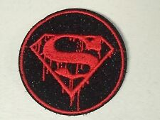 """(C42) SUPERMAN DEATH 2.5"""" iron on patch Biker Vest Cap Zombie Walking Dead"""