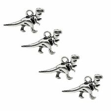 10 x Tibetan Silver 3d Dinosaur  Pendant Charms Trex Raptor