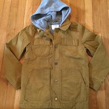New NWT Old Navy Hooded Lighter Fall Coat Jacket Boys Size Large 10-12 Brown