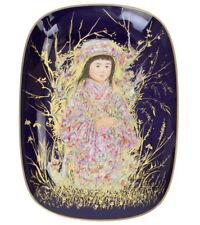 Edna Hibel Takara Colbalt Background Rosenthal Germany Arte Oval Collector Plate