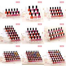 Transparent Acrylic Organizer Lipstick Display Stand Holder Nail Polish Rack