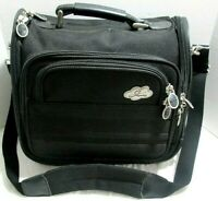 Skyway Cosmetic Shoulder Bag  Carry On Case Organizer Black With Lock And Keys