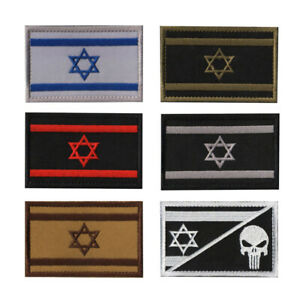 Israeli Israel Flag Tactical Military Armband Morale Emblem Embroidered Patches