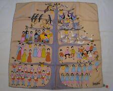 "Vintage 12 Days of Christmas Silk Scarf Italy Glentex Neiman-Marcus 30"" x 30"""