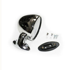 CLASSIC MINI STAINLESS STEEL TEX DOMED RACING DOOR MIRROR L/H GAM113 N/S 8E9