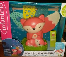 Infantino 3-in-1 Musical Soother & Night Light Projector w/ mini light New