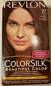 Revlon ~ ColorSilk ~ Beautiful Color ~ 27 Deep Rich Brown ~ Hair Dye ~ Color