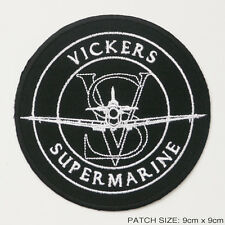 VICKERS SUPERMARINE SPITFIRE Aircraft Company Logo Embroidered Iron-On Patch!