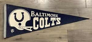 1970s BALTIMORE COLTS NFL TEAM PENNANT